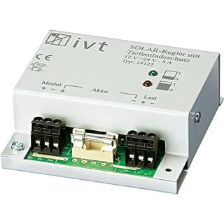 IVT 200001 Solar-Laderegler mit Tiefentladeschutz für Solarbatterien, 12/24V, 8A