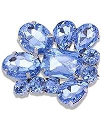 66a6e5a36077 Moda barata encantadora piedra de acrílico brillante joyería Pin  púrpura azul Metal ...
