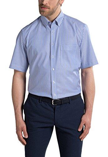 eterna Kurzarm Hemd Comfort Fit Oxford Gestreift (Button-down-gestreiftes Oxford-hemd)