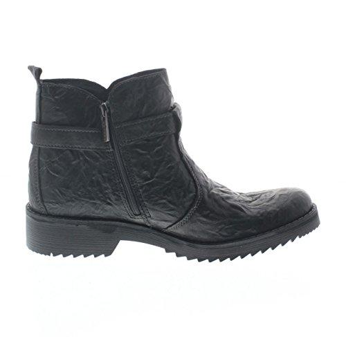 IGI & CO 68060 Schwarze Frau Schuhe Ankle Boots Reißverschluss Leder Nieten Schnalle Schwarz ycIPseF5sB