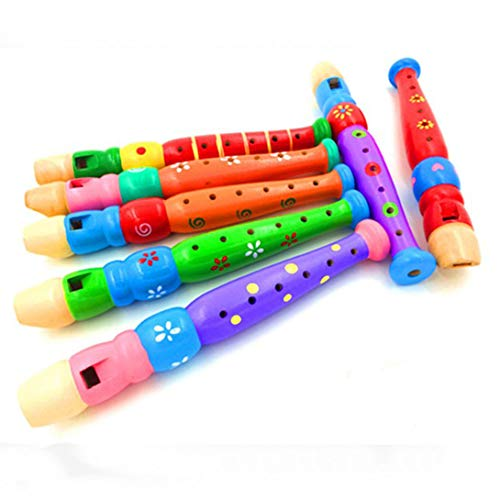 Jixing Cartoon Handle Stick Cartoon Wooden Flute Child Large Flute Playing Musical Instrument Children Toy