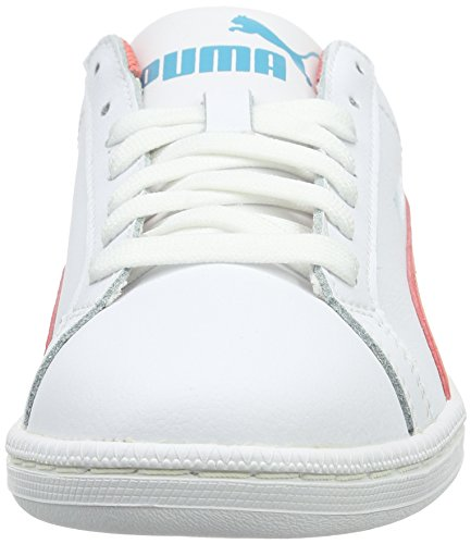Puma Smash Fun L, Baskets Basses Mixte Enfant Blanc (White/Porcelain Rose)