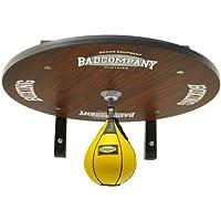 Profi Speedball Plattform Set inkl. Drehkugellagerung schwarz und Leder Boxbirne medium gelb/Boxapparat für die Wandmontage BCA-39