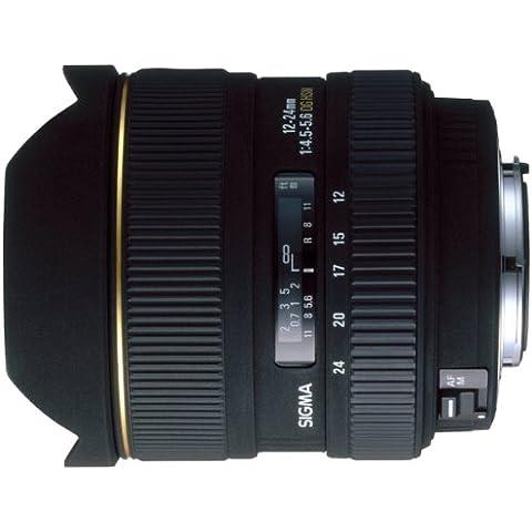 Sigma 12-24mm F4.5-5.6 EX DG ASPHERICAL /HSM NIKON - Objetivo (4.5, 0,28m, 122°, Negro, 8,7 cm, 10,25 cm)