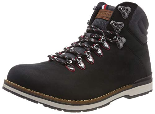 Tommy Hilfiger Herren Outdoor Hiking Detail Combat Boots, Schwarz (Black 990), 43 EU