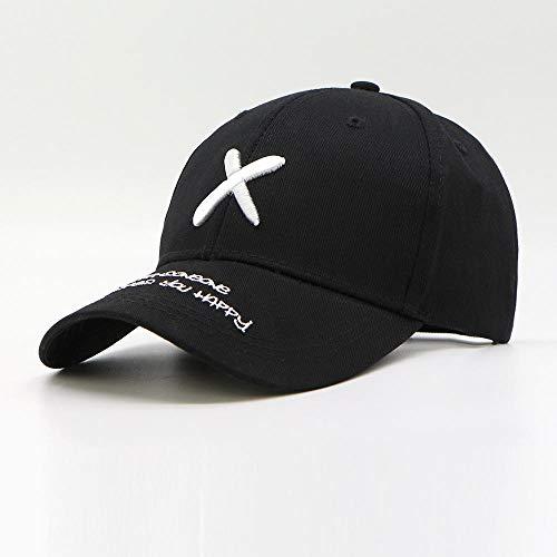 Noctiflorous Herren Baseball Cap Sonnenhut schnell,Lässiger Sonnenhut mit Buchstabenstickerei,Unisex Polo Style Classic Sports Hat,Black,Geeignet zum Laufen,Klettern,Wandern,Outdoor