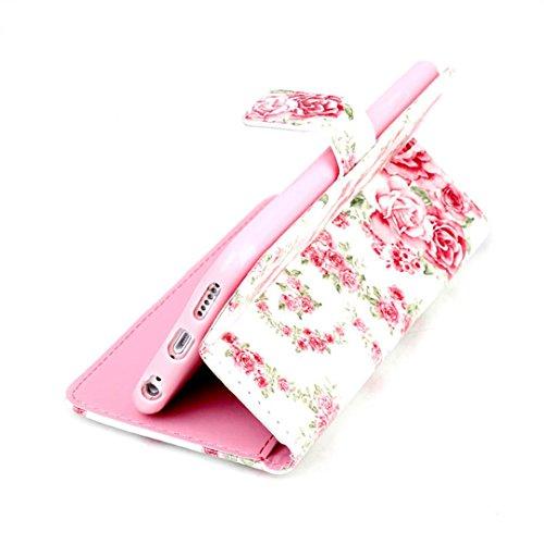 iPhone 6/6S Hülle im Bookstyle, Xf-fly® PU Leder Flip Wallet Case Schutzhülle für Apple iPhone 6/6S (4.7 Zoll) Tasche Handytasche mit Magnetverschluss Kartenfach Standfunktion Muster Handyhülle P-3