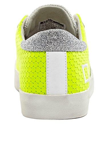 D.a.t.e. HILL LOW-45 Sneakers Donna Pelle/tessuto GIALLO Giallo