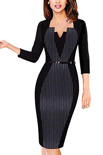 MisShow Robe Femme Moulante Grande Taille Crayon Pin up Tailleur Femme Mariage Invitée Robe Femme Bureau Style Classe 4XL
