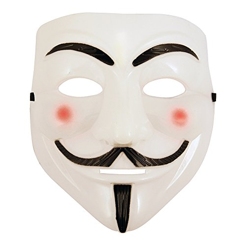 V wie Vendetta Maske Halloween Kostum Party Kunststoff Weiß (V For Vendetta Kit)