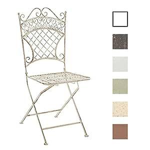 Clp chaise de jardin pliante adelar chaise de balcon en - Chaise en fer forge pour jardin ...