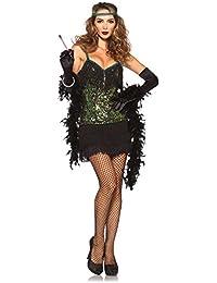 Leg Avenue - Charleston Flapper Kostüm - 85442 - schwarz