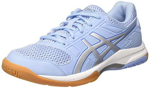 Asics Damen Gel-Rocket 8 Volleyballschuhe, Türkis (Airy Bluesilverwhite 3993), 35.5 EU