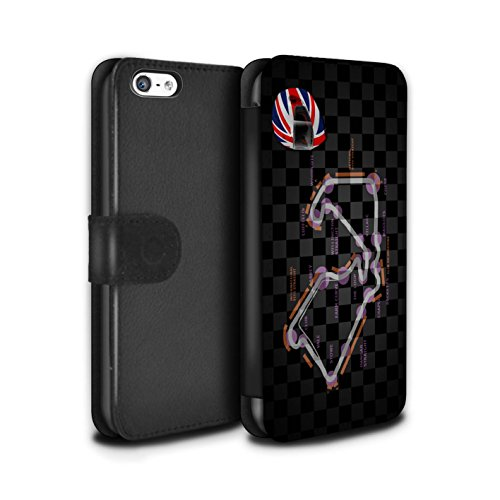 Stuff4 Coque/Etui/Housse Cuir PU Case/Cover pour Apple iPhone 5C / Multipack (19 Pack) Design / 2014 F1 Piste Collection UK/Silverstone