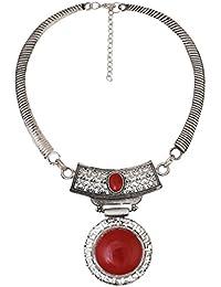 ARITTRA Antique Antique Silver Metal Choker Necklace For Girls/Women