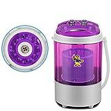 WYN123 Portable 230VMINI Machine à Laver bébé sous-vêtements Simple déshydratation Paresseux Lavage Un Seul Tube Maison Petite Cuisine séchoir Rotatif, Rose