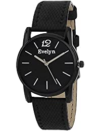 Evelyn Danim Black Dial Blue Strap Stylish Analogue Watch For Girls-Eve-554