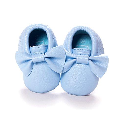 Nicetage Süß Mädchen Schuhe Laufternshuhe Krabbelschuhe für 0-18 Monate Baby Neugeborenen Schuhe Hellblau