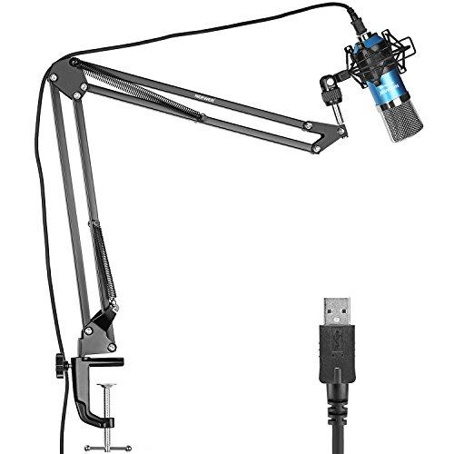 Neewer Micrófono Condensador Estudio Pro NW-7000 y Brazo Tijera de Su
