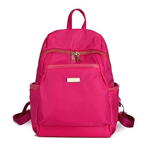 Beauty Case da Viaggio BorsaNylon oxford tela zaino spalla femminile grande capacità collegio vento casual rosa selvatico grande