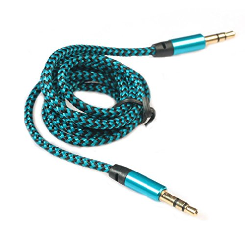 Bluestercool 3,5 mm Stereo-Auto AUX Audio-Kabel Stecker zu Stecker für Smartphone (Blau)