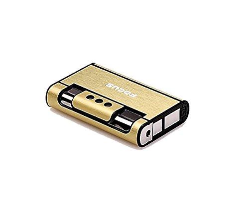FOCUS Original : Distributeur boite boitier étui 8 cigarettes avec briquet tempête Or.