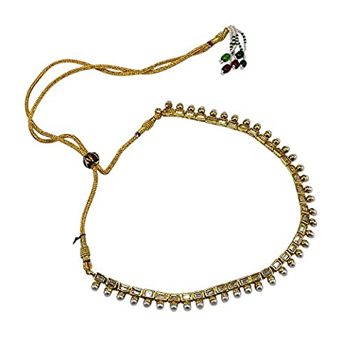 Silvestoo India Pearl Gemstone Gold Plated Adjustable Necklace PG-132704