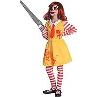 Costume bambina Horror clown girl, 5-7 anni