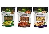 AXIUM Combo 500gm Each (Pack of 2) Raisins, Pistachios, Cashews