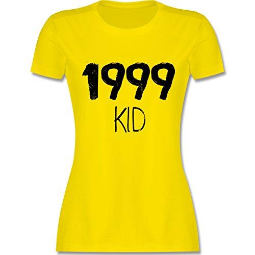 Shirtracer Geburtstag - 1999 Kid - Damen T-Shirt Rundhals Lemon Gelb