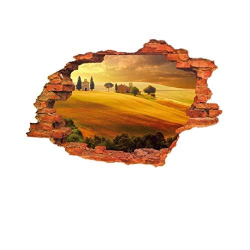 DIY 3D Scenic Gebrochene Wand Loch Wanddekor Aufkleber Abnehmbare Selbstklebende PVC Wandkunst Wandbilder Wandtattoo Home Office Party g1 89x59 cm