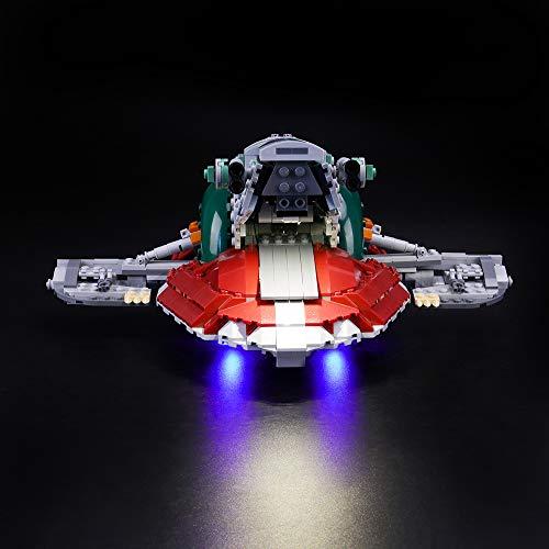 LIGHTAILING Conjunto de Luces (Star Wars Slave I) Modelo de Construcción de Bloques - Kit de luz LED Compatible con Lego 75243 (NO Incluido en el Modelo)