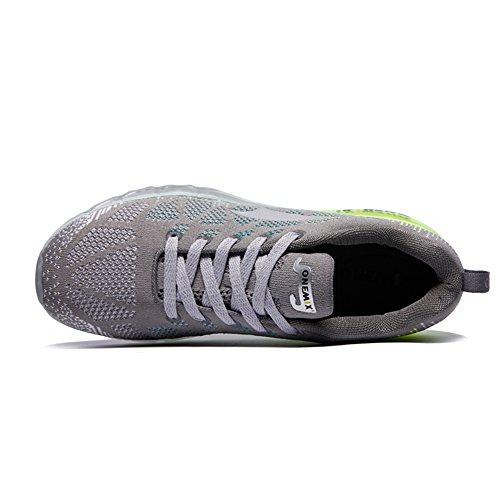 ONEMIX Air Chaussures de course running Sport Compétition Trail Homme femme ete Baskets Basses gray