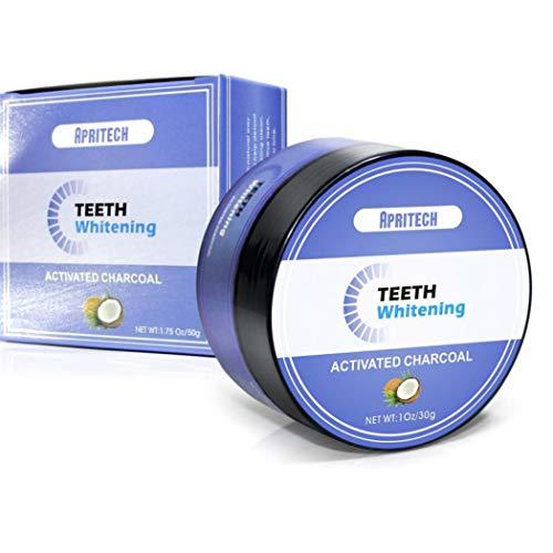 APRITECH Carbón Activado Para kit Blanqueamiento Dental Polvo,blanqueador dental, Teeth Whitening,100% Natural,Polvo Fino Carbón Activo De Para Dientes Blancos