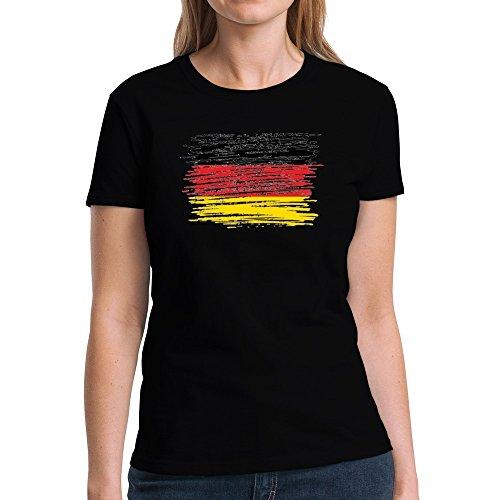 Eddany Schleswig Holstein Flag Scratched Women T-Shirt