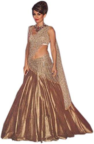 ClassyFashion Women\'s Taffeta Silk Lehenga Choli (Multi-Coloured_Free Size_lehnga/lehenga choli for women_SIMI03)