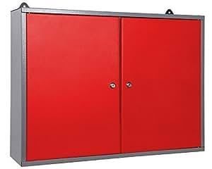 Werkstattschrank Werkzeugschrank abschließbar rot zwei Türen