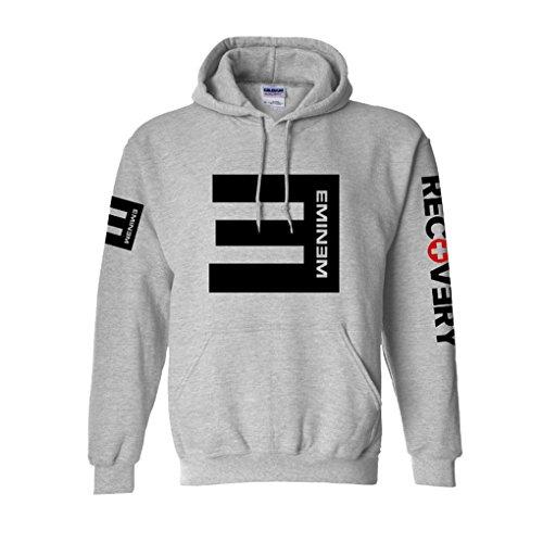 CosDaddy® Eminem Hip Hop Sweater Hoodie Kapuzenpullover Cosplay Kostüm US Size (S, Grau)