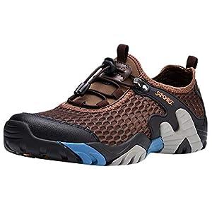 Dnliuw Herren Mesh atmungsaktive Turnschuhe, Strandschuhe Sommer Outdoor Wanderschuhe Freizeitschuhe Wasserschuhe Creek Schuhe