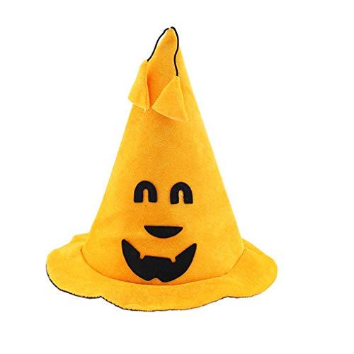 Kühle Kostüm Kinder - Mengonee Halloween Kinder Kürbis Kühle Hexenhut für Halloween-Kostüm-Zusatz-Kinder nach Hause Schule Feiertags-Party-Hut Stützen zufällige