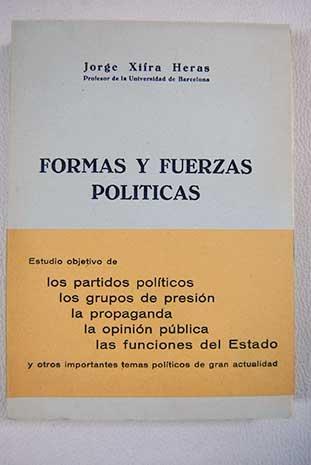 FORMAS Y FUERZAS POLÍTICAS