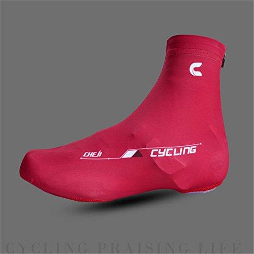West Radfahren Fahrrad Lock Schuhe Covers Leichtes Easy Dry Staubdicht Überschuhe rot - rot