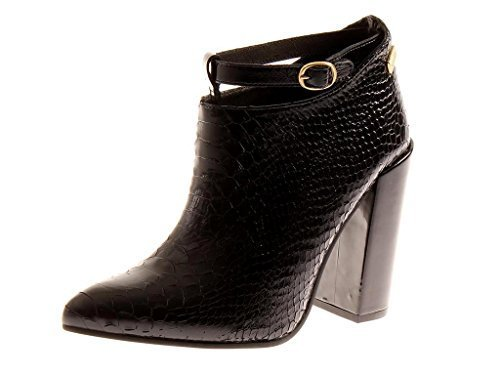 Nata Shoes - elegante Lederstiefelette Kroko-Optik