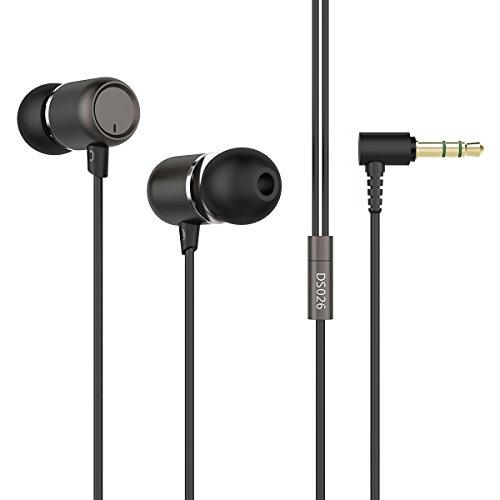 In Ear Kopfhörer Doosl® Sport-Kopfhörer Kopfhörer in Ear HiFi Kopfhörer mit 3,5 mm Stecker für Telefon, Tablet, Laptop -Schwarz (Stecker Für Skullcandy Kopfhörer)