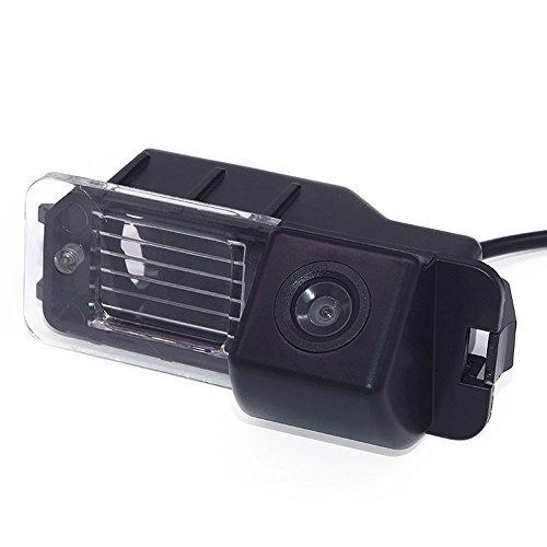 Rückfahrkamera KFZ Rückfahrsystem Distanzlinien Kennzeichenleuchte für VW Polo V (6R) / Golf 6 VI / Passat CC/EOS GP/Amarok (2H)/Beetle