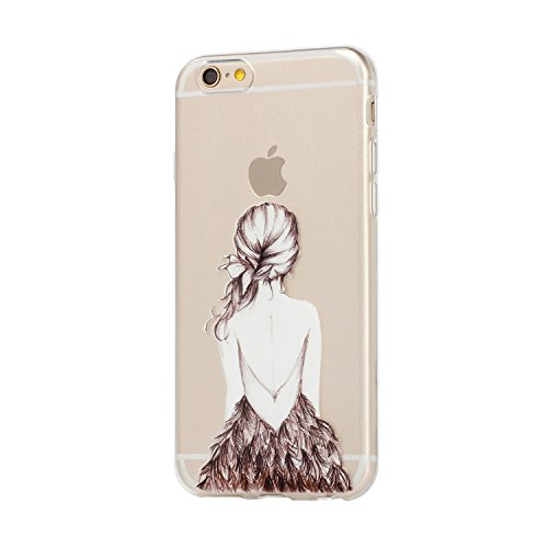 Für iPhone 6 6S Hülle Fall , IJIA Mädchen Zurück Weich TPU Case Durchsichtig Schutzhülle Silikon Crystal Transparent Cover Hülle für Apple iPhone 6 6S 4.7
