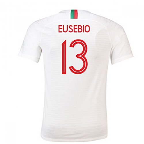 13e55e4459 2018-2019 Portugal Away Nike Football Soccer T-Shirt Camiseta (Eusebio 13)
