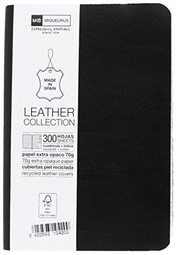 basicos-mr-10420-flexible-piel-cuaderno-8-300-hojas-cuadricula-con-ndice-con-goma-color-negro