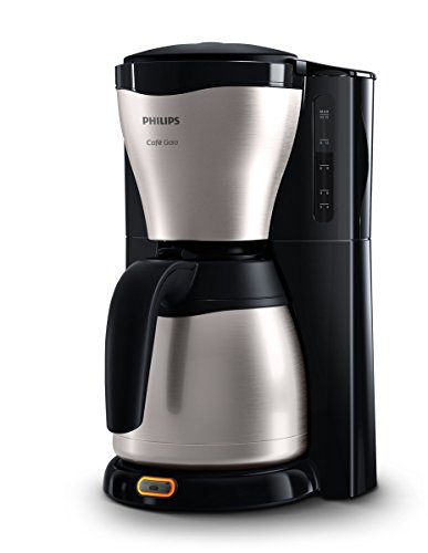 Philips HD7546/20 Gaia Filter-Kaffeemaschine mit Thermo-Kanne, schwarz/metall (Amazon Kaffeemaschinen)