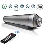 Soundbar 2.0 Canali per PC Bluetooth Altoparlante cablato e wireless, Altoparlante Hi-Fi Suono Surround 3D 75dB, Soundbar USB portatile per home theater, computer, TV, cellulare, supporto [RCA, AUX]